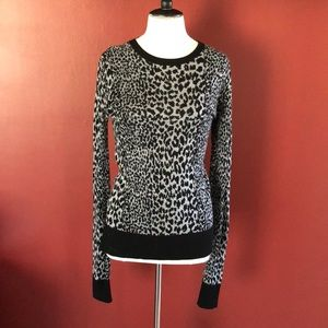 French Connection Leopard Print Sweater